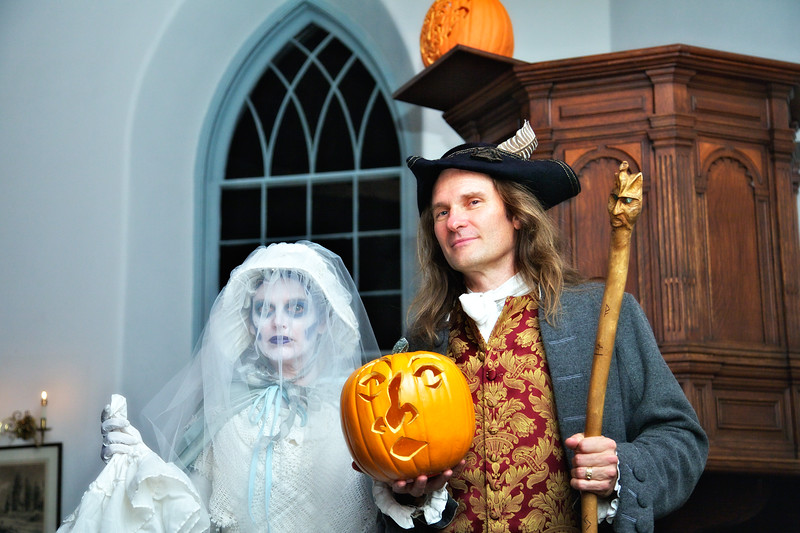 "Andrea Sadler and Jonathan Kruck Following a Performance of ""The Legend of Sleepy Hollow"" in the Old Dutch Church of Sleepy Hollow, Westchester County, New York"