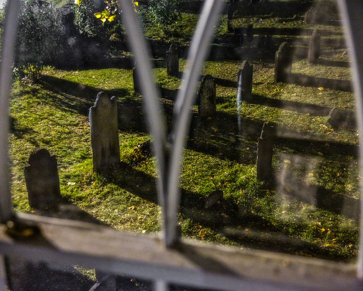 View of the Burial Ground from the Old Dutch Church of Sleepy Hollow's Organ Loft, Westchester County, New York