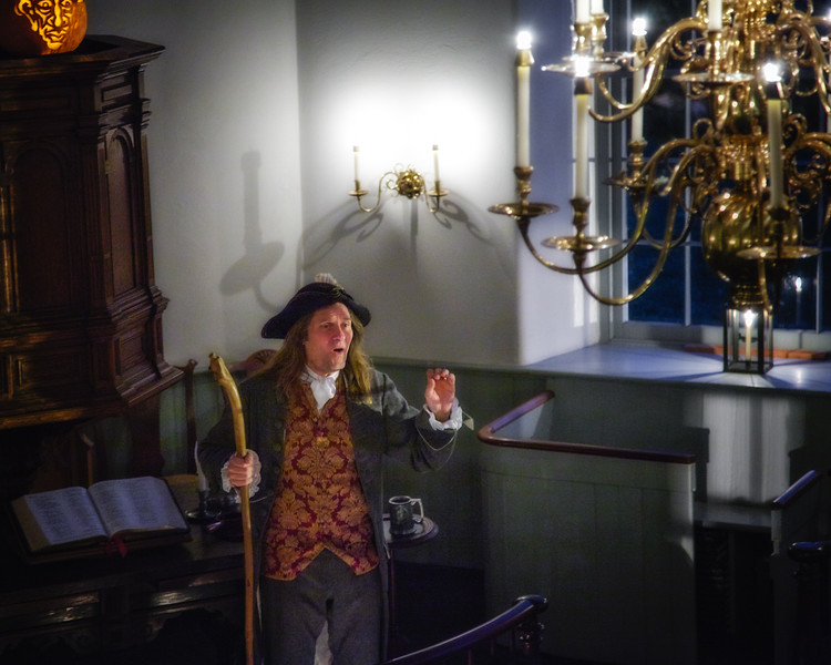 "Jonathan Kruk Performing ""The Legend of Sleepy Hollow"" in the Old Dutch Church of Sleepy Hollow, Westchester County, New York"
