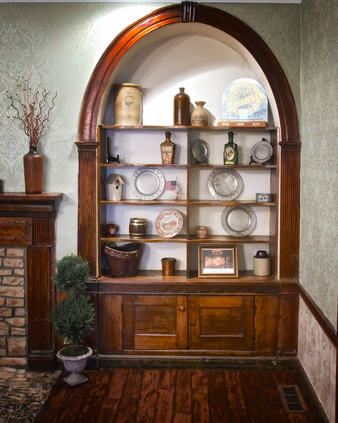 Colonial Era Taverns: Americana Cabinet, Old Talbott Tavern, c. 1779, Bardstown, Nelson County, Kentucky