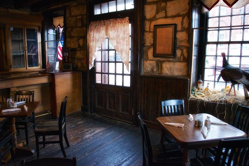 Colonial Era Taverns: Front Door, Restaurant, Old Talbott Tavern, c. 1779, Bardstown, Nelson County, Kentucky