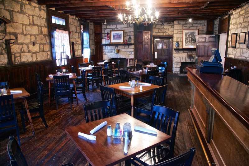 Colonial Era Taverns: The DIning Room at Old Talbott Tavern, c. 1779, Bardstown, Nelson County, Kentucky