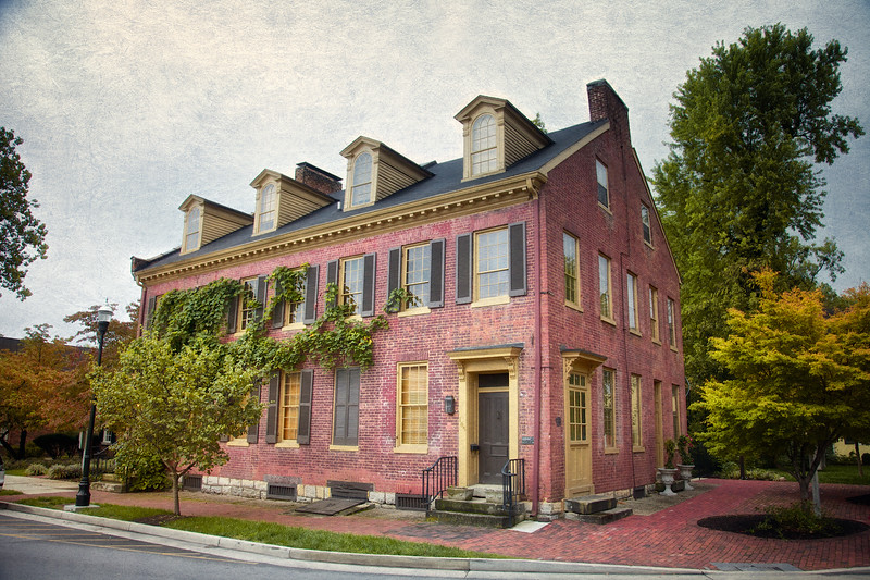 19th Century Architecture: The McLean House, Circa 1814, Early Post Office, Printers and Cabinet Shop. Bardstown, Nelson County, Kentucky