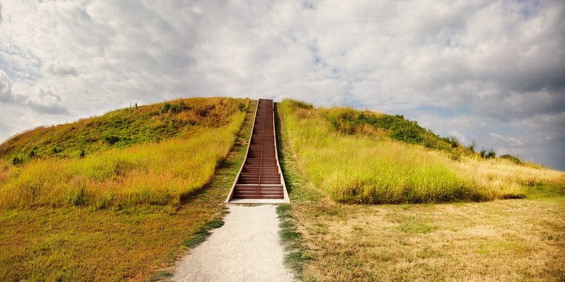 Native American Life: Top Terrace of Monk's Mound, Cahokia Mounds, Collinsville, St. Clair County, Illinois