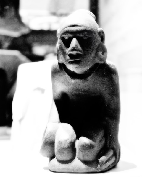 Native American Life: Chunky Player Figurine (cast), Cahokia Mounds, Collinsville, St. Clair County, Illinois