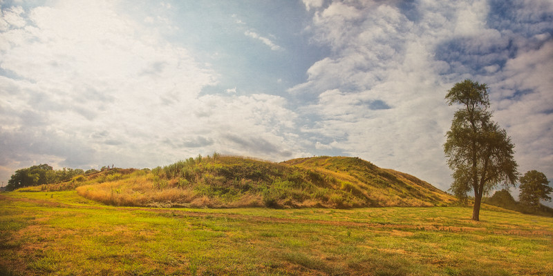 Native American Life: Monk's Mound, Cahokia Mounds, Collinsville, St. Clair County, Illinois