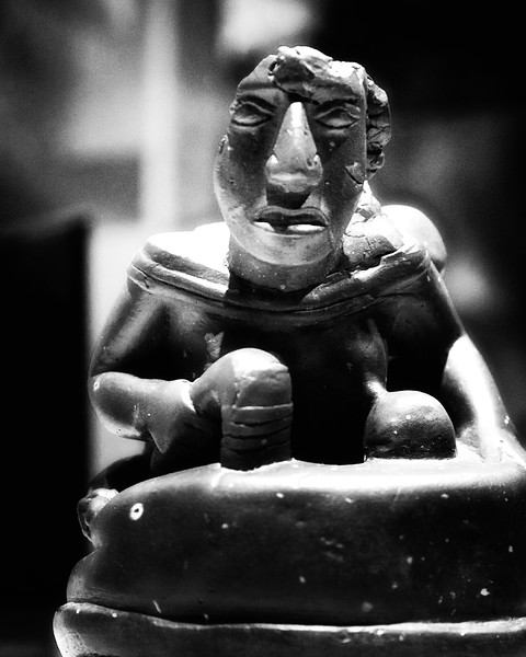 Native American Life: Birger Figurine, Cahokia Mounds, Collinsville, St. Clair County, Illinois