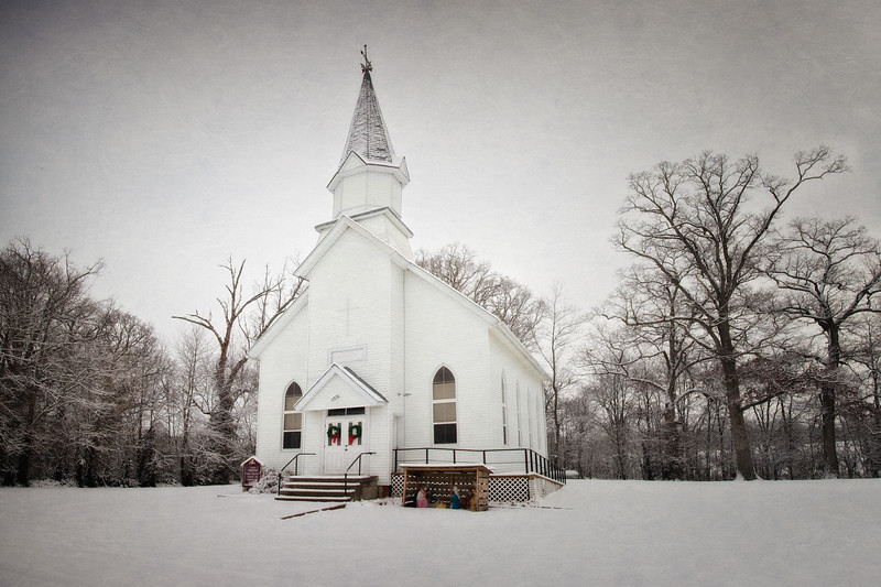 Zion United Methodist Church in the Snow