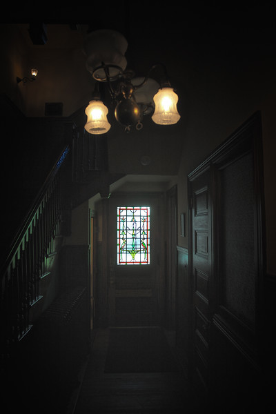 Tiffany Stained Glass Window, Servant's Staircase, Rockcliffe Mansion