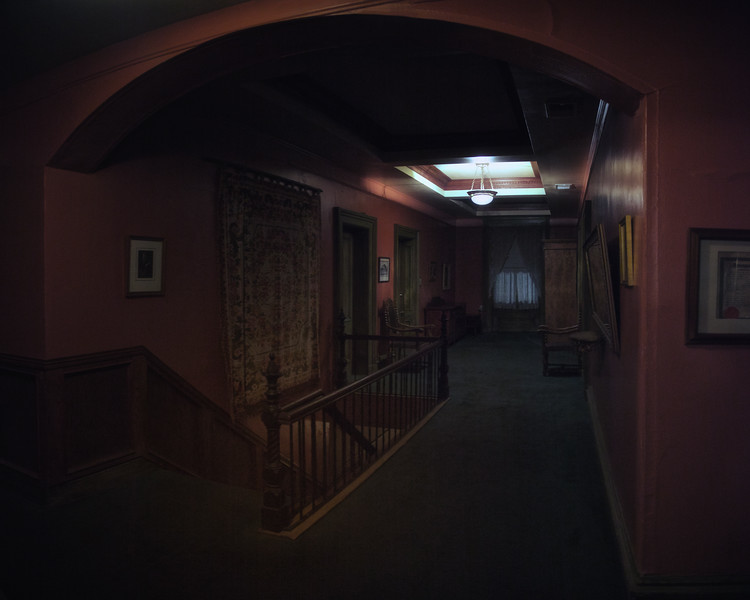 Second Floor Hallway at Night
