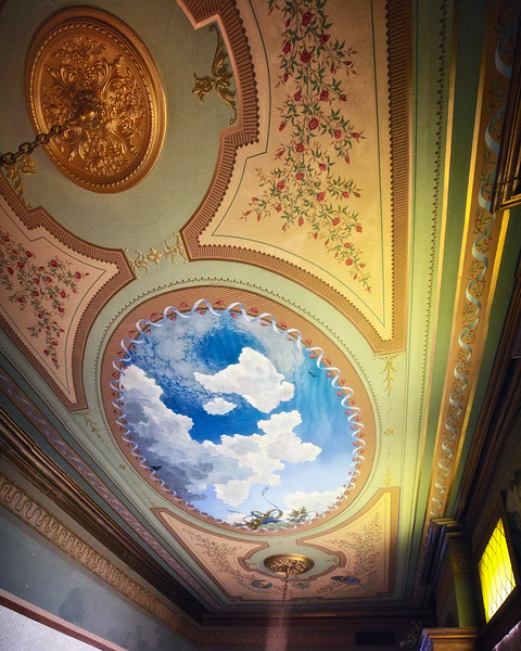 Hand Painted Ceiling of The Parlor