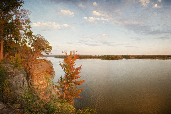River Landscapes: Bluffs over the Ohio River,