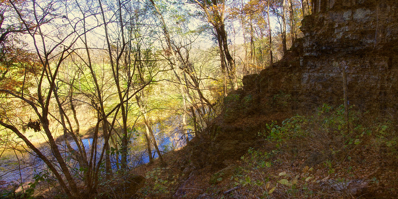 The Red River, Bell Witch Cave and Cabin, Adams, Robertson, Tennessee
