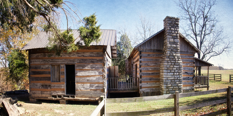 Reconstruction of the Bell Cabin, Bell Witch Cave and Cabin, Adams, Robertson, Tennessee