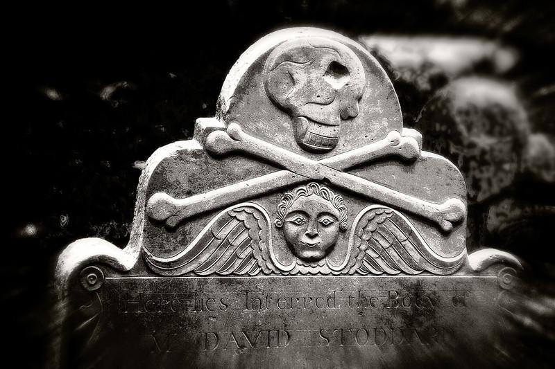Memento Mori: Gravestone, St. Philips Episcopal Church, Charleston, South Carolina