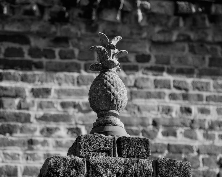 Charleston Landmarks: Pineapple, Church Street, Charleston, South Carolina