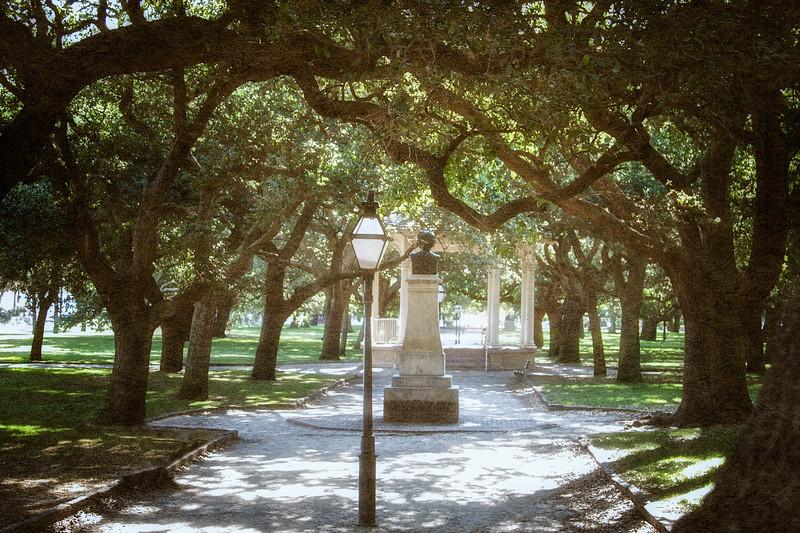 Charleston Landmarks: White Point Garden, The Battery, Charleston, South Carolina