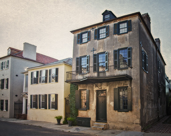 Charleston Architecture: 54 Tradd Street, William Vanderhorst House, c. 1740, Charleston, South Carolina