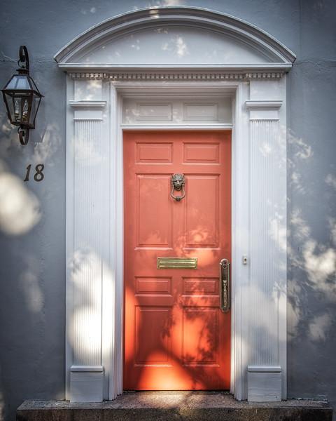 Charleston Architecture: Door, 18 Church Street, Charleston, SC