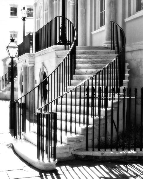 Charleston Landmarks: Charleston City Hall Steps, c. 1800, Charleston, South Carolina