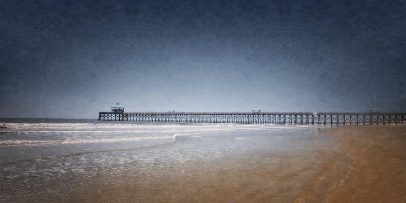 Lowcountry Landscapes: Folly Beach Pier. Folly Beach, Charleston, South Carolina