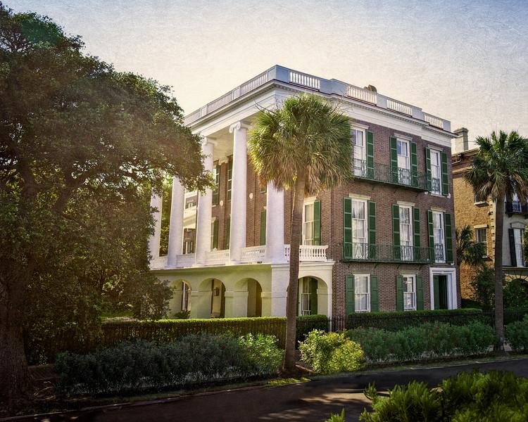 Charleston Architecture- THe Battery: William Roper House, c. 1838, 9 East Battery, Charleston, South Carolina