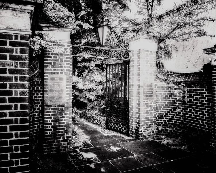 Charleston Landmarks: Gates of Unitarian Church in Charleston Cemetery, Charleston, South Carolina