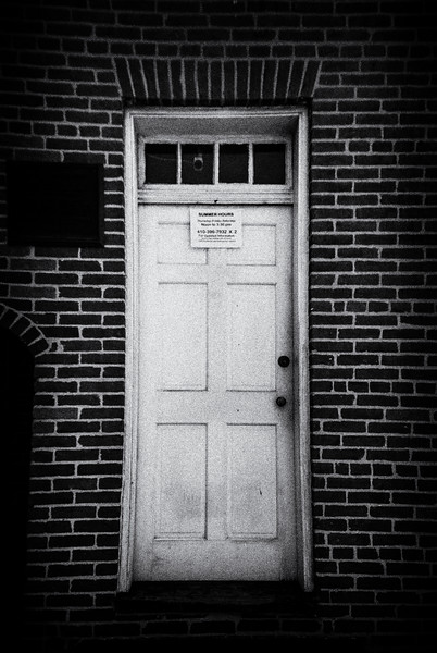 Door to The Edgar Allan Poe House and Museum, Baltimore, MD