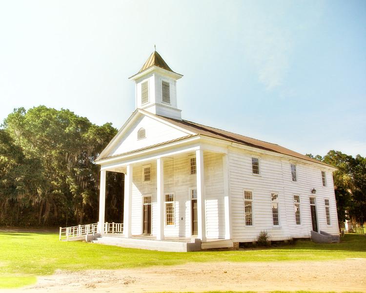 Lowcountry Photos: Edisto Presbyterian Church, c. 1831.  Edisto Island, Charleston County, South Carolina