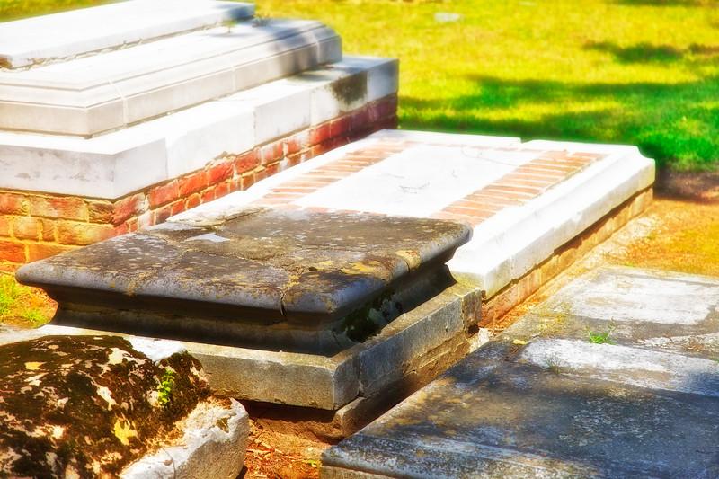 Jamestowne Settlement: Graves of James and Sarah Blair. Jamestown Church, Historic Jamestowne, Jamestown Island, Virginia