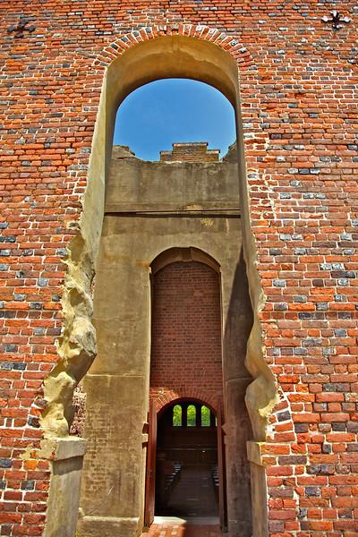 Jamestowne Settlement: Fifth Church at Jamestown Settlement c. 17rh and 18th Centuries, Abandoned c. 1750. Historic Jamestowne, Jamestown Island, Virginia