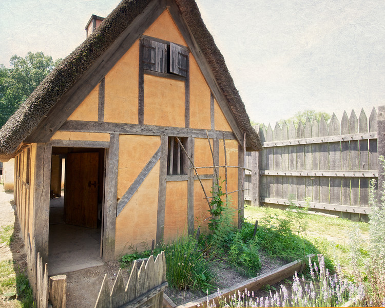 Reconstructed First Period Wattle and Daub Homes