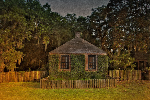Southern Plantation Architecture: Stablehouse Cottage. Middleton Place National Historic Landmark, Ashley Road, Charleston, South Carolina