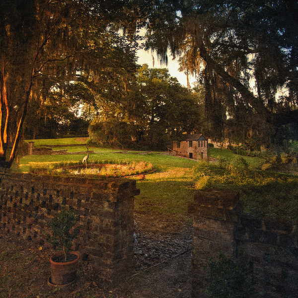 Southern Plantation Landscapes: Entrance To the Gardens. Middleton Place National Historic Landmark, Ashley Road, Charleston, South Carolina
