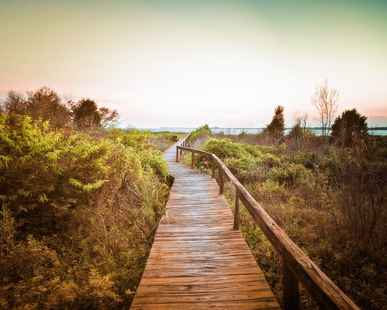 Lowcountry Photos: Boardwalk Over the Dunes to Edisto Beach, Edisto Island, Charleston County, South Carolina