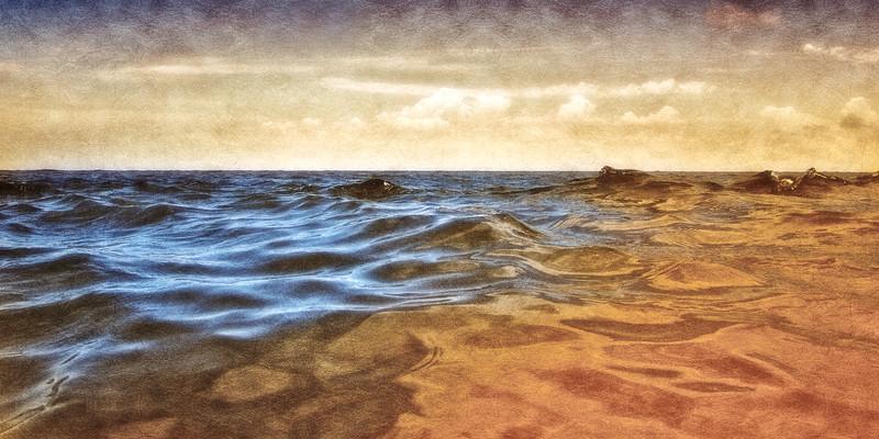 South Carolina Seascapes: Waves off Sulivan's Island. Charleston, South Carolina