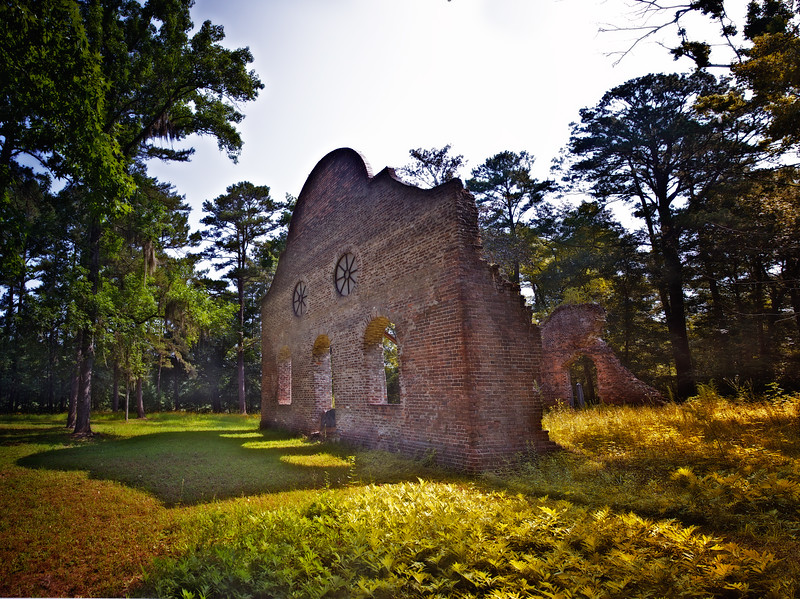 Southern Architecture: The Ruins of Pon Pon Chapel, circa 1819, Colleton County, Jacksonboro, South Carolina