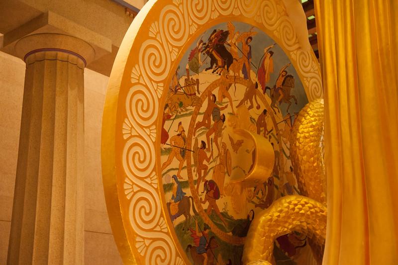 Nashville Landmarks: Shield of Athena Parthenos Statue, 1990, Centennial Park, Nashville, Davidson County, Tennessee
