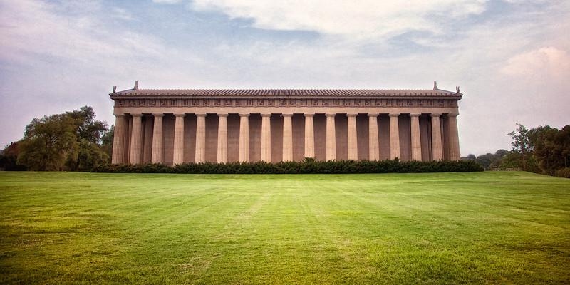 Nashville Landmarks: Side view of the Parthenon, c. 1897, Centennial Park, Nashville, Davidson County, Tennessee