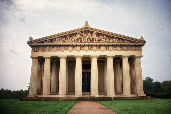 Nashville Landmarks: Exterior of the Parthenon, c. 1897, Centennial Park, Nashville, Davidson County, Tennessee