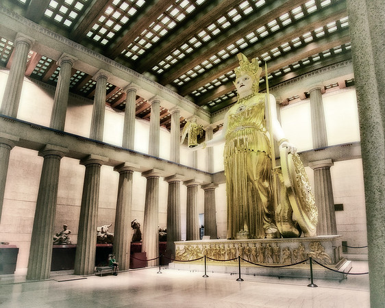 Interior of the Parthenon, Nashville, Tennessee #greekarchitecture #mythology #nashville #athena