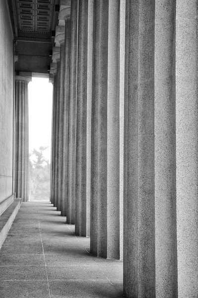 Nashville Landmarks: Columns of the Parthenon, c. 1897, Centennial Park, Nashville, Davidson County, Tennessee