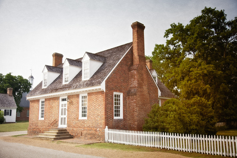 Colonial Era Architecture: Somerwell House, c.1702, Colonial National Historic Park, Yorktown Battlefield, Yorktown, York County, Virginia