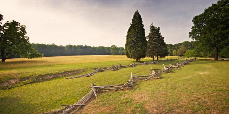 Battlefields of the American Revolution: Surrender Field. Yorktown Battlefield, Yorktown, York County, Virginia