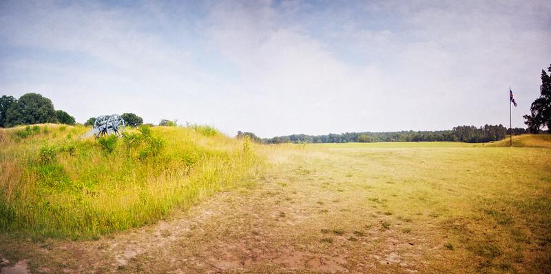 Battlefields of the American Revolution: British Inner Line, Colonial National Historic Park, Yorktown Battlefield, Yorktown, York County, Virginia