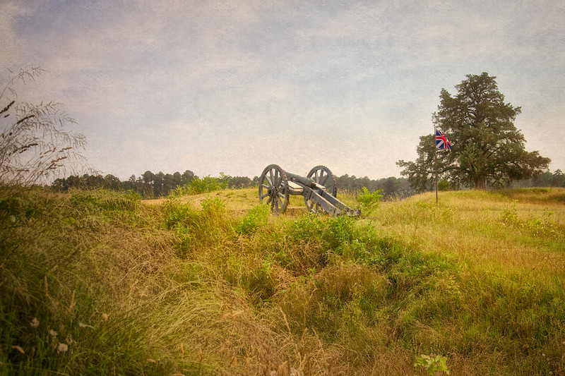 Battlefields of the American Revolution: Cannon British Inner Defense Line, Colonial National Historic Park, Yorktown Battlefield, Yorktown, York County, Virginia