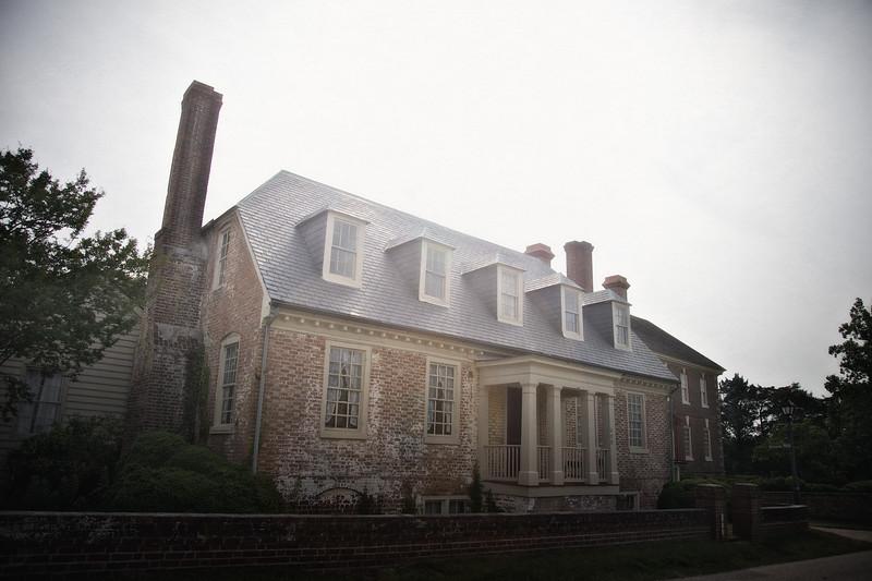 Colonial Era Architecture: Yorktown House, Colonial National Historic Park, Yorktown Battlefield, Yorktown, York County, Virginia