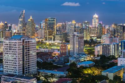 Cityscape of Samyan, Chulalongkorn University and Ratchaprasong