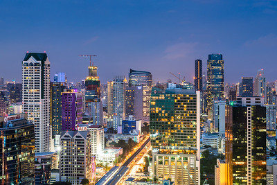 Bangkok view from the Rhythm Sathorn