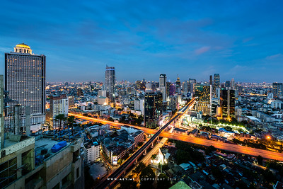 Bangkok view from Rhythm Sathorn